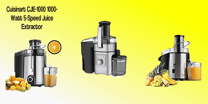 CJE-1000 1000-Watt 5-Speed Juice Extractor