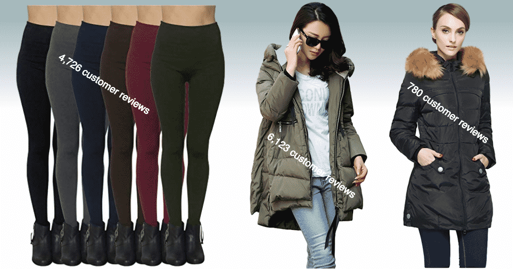 fashion and styles winter items sold on Amazon