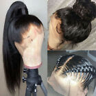 100% Brazilian Remy Human Hair Wig 360 Lace Front Wigs Pre Plucked Straight vjnb