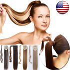 100% Real New Clip In Hair Extension Pony Tail Wrap Around Ponytail as human ncw