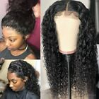 100% Real Remy Human Hair Full Wig 360 Lace Front Wigs Black Water Wave Women da