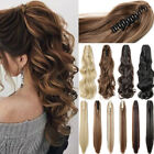 "100% Real Thick Claw Clip On Ponytail 18-26"" Long Soft As Human Hair Piece US Po"