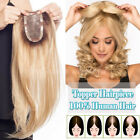 130% Topper Clip in Remy Human Hair Piece For Bald Spots Women Top Piece Toupees