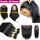 13x4 Lace Frontal 360 Closure with Baby Hair Brazilian Virgin Human Hair Bundles