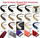 """16""""-24"""" 8A Seamless Premium Tape In Remy Human Hair Extensions Thick USA SELLER"""