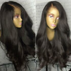 360 Lace Frontal Wig Pre Plucked Glueless Brazilian Human Hair Wigs off Black hb