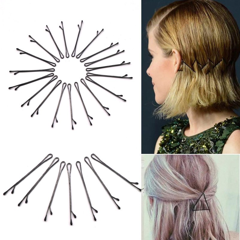 60Pcs Black Invisible Hair Clips Wave Straight Hair Pins Grips Barrette Popularity Simple Hairpin For Alloy Hair Accessories