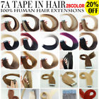 "7A* Best Quality 14''-24"" Tape-In Russian Remy Human Hair Extensions USA Stock"