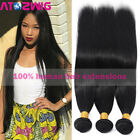 9A Brazilian Hair 1-3 Bundles Unprocessed Virgin Remy Human Hair Extensions Weft