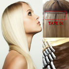 "AAA Tape In 40Pcs 100g 16""-24"" Skin Weft Remy Human Hair Extensions US Ship I332"