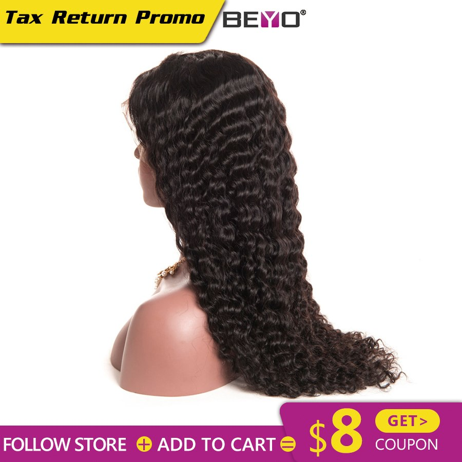 Beyo Lace Front Human Hair Wigs For Black Women Malaysian Deep Wave Lace Front Wig Pre Plucked With Baby Hair Remy Lace Wig