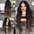 Black Brown Curly Synthetic Hairstyle Hair For Women Full Wigs Long Wavy