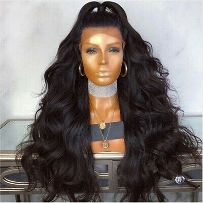Black Wigs Brazilian Remy Human Hair Body Wave Lace Front Wigs For Women Natural