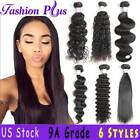 Brazilian Body Wave/Curly/Straight/Deep Human Remy Hair Bundles Weave Extensions
