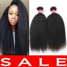 Brazilian Virgin Kinky Yaki Straight Hair Bundles Weft Human Hair Extension 300g