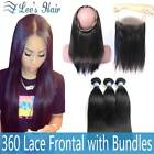 Bundles with Closure Lace Frontal Straight Human Hair Bundles with Closure 9A
