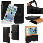 Business Pouch Belt Holster Card PU Leather Black Soft Case Cover For Cell Phone
