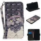 Cat Leather Wallet Flip Stand Strap Case Cover For SONY NOKIA 7 Plus Cellphone