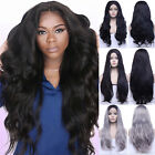 Fashion Synthetic Lace Front Wigs Long Wavy Black Synthetic Wigs For White Women
