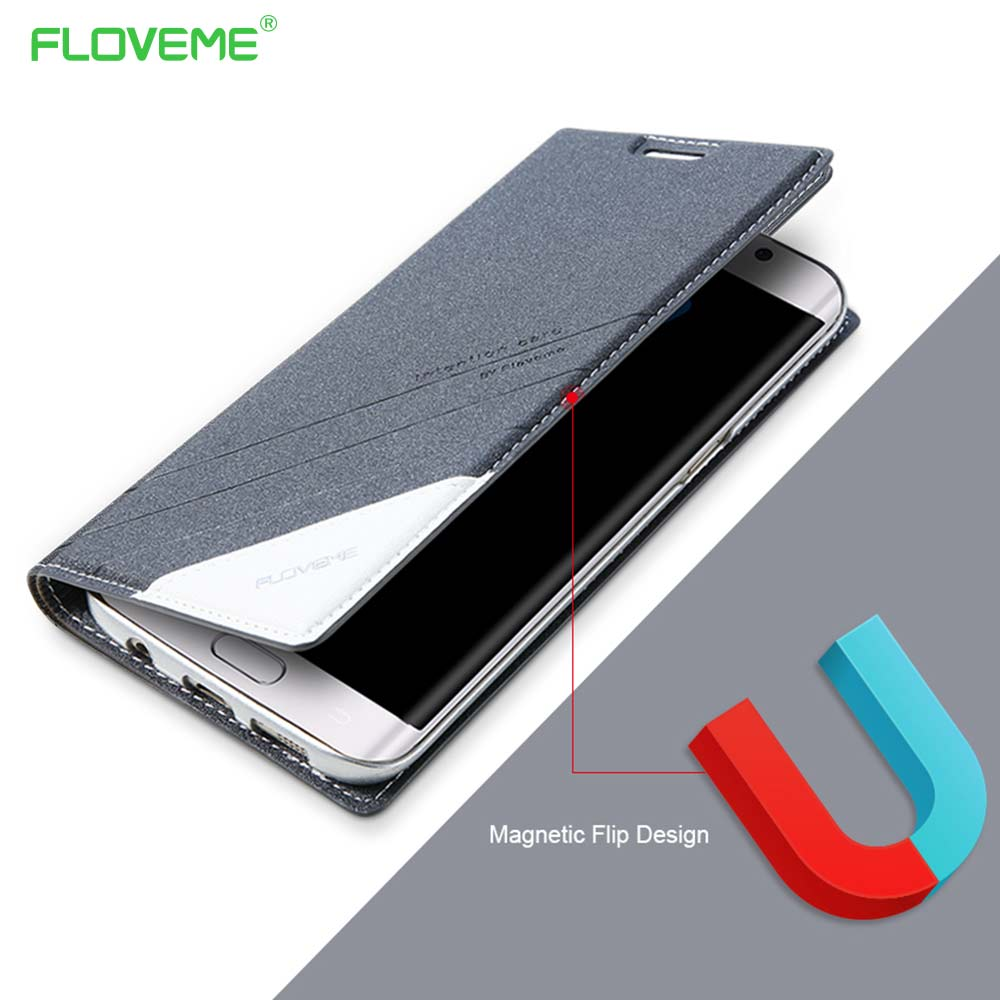 FLOVEME Original Magnetic Case For Samsung Galaxy S7 S6 Edge Leather Wallet Flip Cover 360 Coque For Galaxy S7 S6 S8 S8Plus Capa