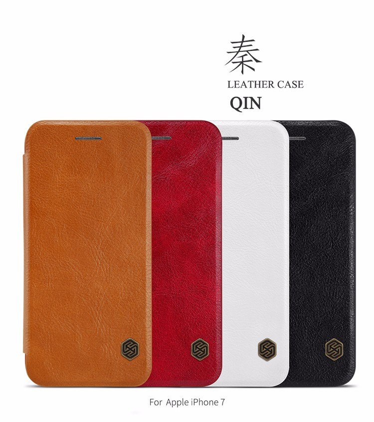 For Apple iphone 7 Case NILLKIN Qin Series Wallet Flip Cover For iphone 7 plus Genuine Flip Leather Case mobile phone cases