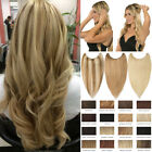 Highlight Wire In On One Piece REMY Human Hair Extensions Hidden Crown Best T556