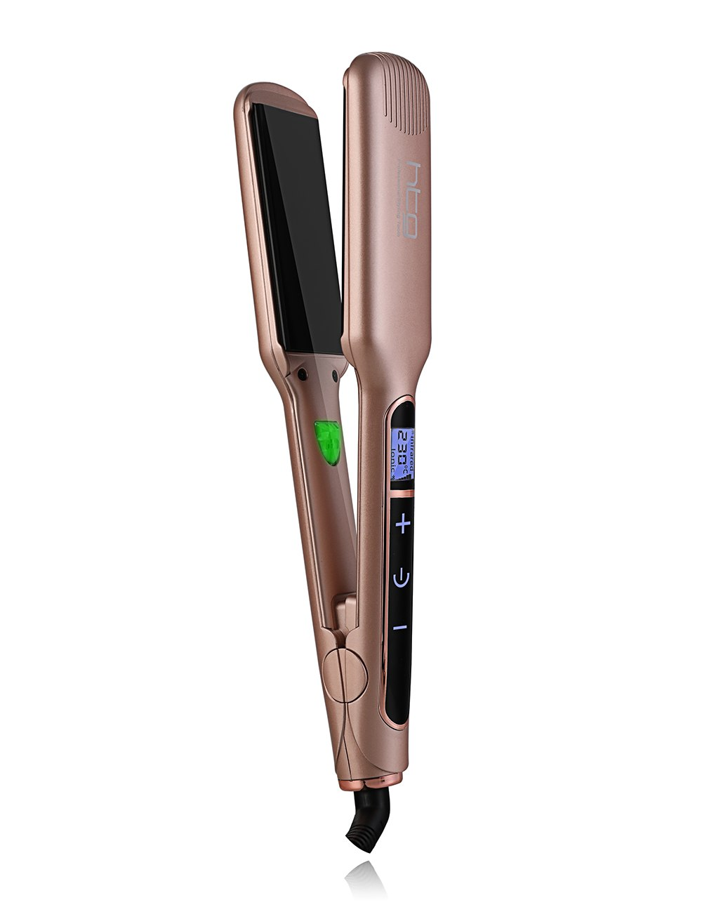 HTG Professional Hair Straightener Hair Flat Iron With Negative ION touch screen infrared Hair Straightener wide plates