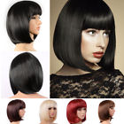 Lady Girl Bob Wig Women's Short Straight Bangs Full Hair Wigs Cosplay Party
