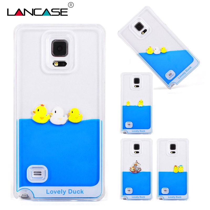 LANCASE For Samsung Galaxy S7 Case Flowing Yellow Duck Liquid Case For Samsung Galaxy S7 Edge Accessories S6 Note 5 Note 4 Case