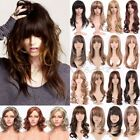 Latest Layered Wavy Ombre Hair Wigs Women Long Brown Blonde Party Wig With Bangs