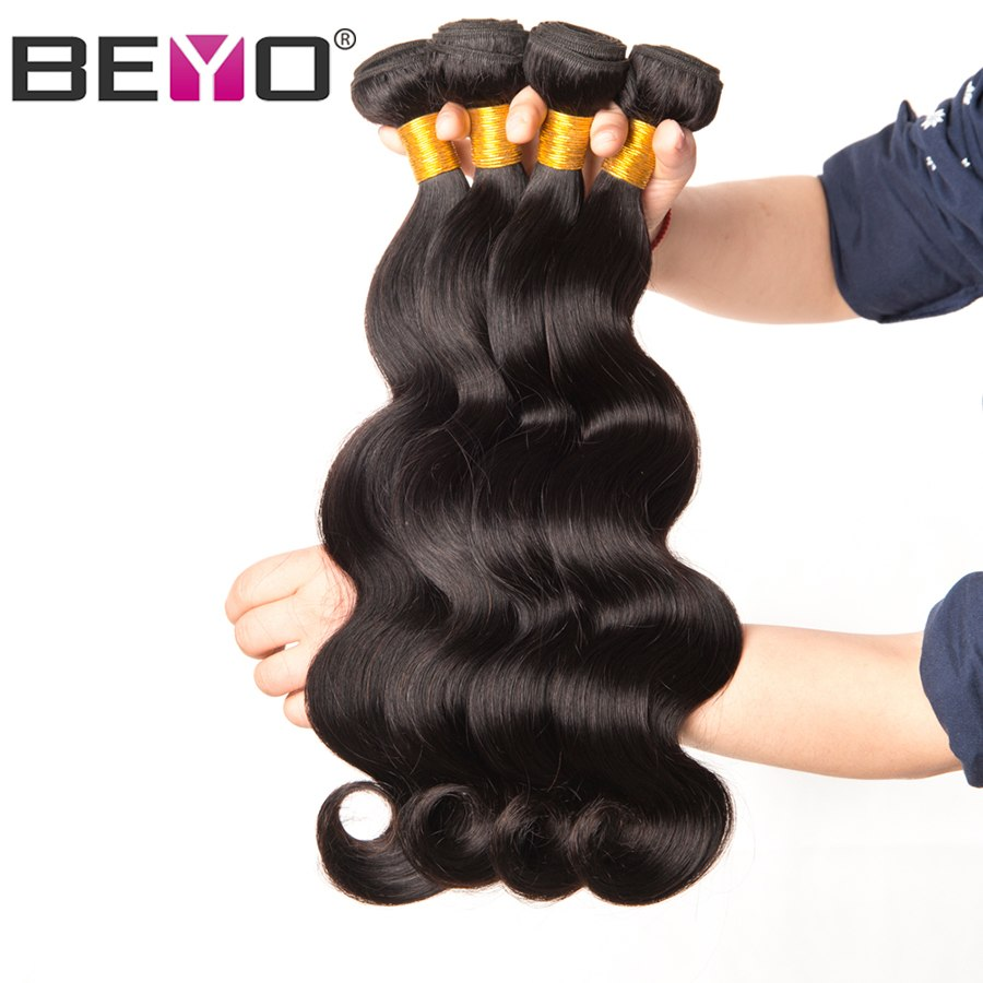 Malaysian Body Wave Bundles 100% Human Hair Bundles 10-28 Inch 1/3/4 Bundle Deals Natural Color Non Remy Hair Extension Beyo