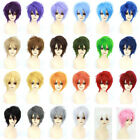 Men Male Short Full Wigs Boys Anime Cosplay Costume Party Synthetic Hair Wig @M