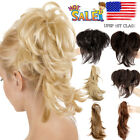 Natural As Human Messy Ponytail Hair Piece Claw In Hair Extension Short Wavy US