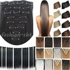"New BEST Selling Clip In Remy Human Hair Extensions Full Head 18"" 20"" 22"" Blonde"