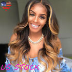 New Fashion Women 28'' Long Curly Body Wavy Brown Hairstyle Black Gold Hair Wigs