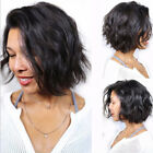 Real Brazilian Human Hair Wig Natural Wavy Straight Full Wigs Unprocessed Soft C