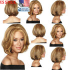Short Wavy Bob Natural Hair Wigs Brazilian Brown Hair Women Full Lace Front Wigs
