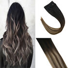 Sunny Flip on Human Hair Extensions Invisible Balayage Halo Wire Remy Hair