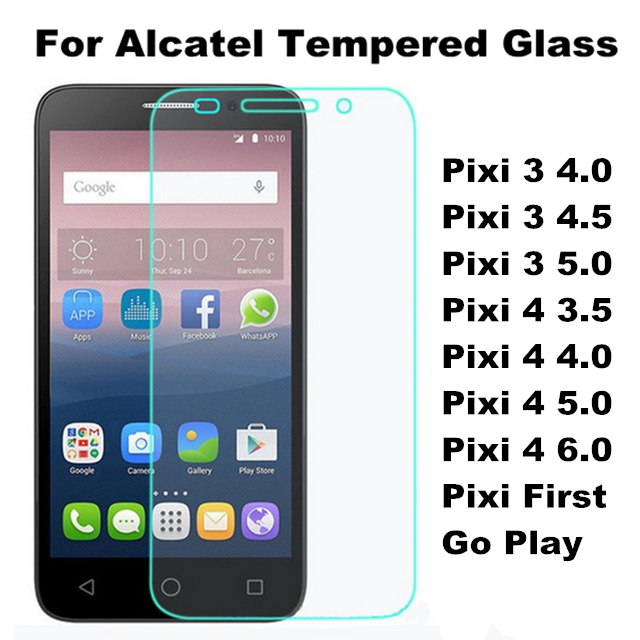 Tempered Glass Film For Alcatel One Touch Pixi 3 4.0 4.5 5.0 Pixi 4 3.5 4.0 5.0 Pixi First Go Play Screen Protector+Clean Kits