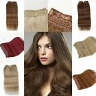 US Stock Hidden Halo Invisible Wire Weft 100% Remy Human Hair Extension 100gr