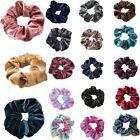 Velvet Scrunchies Hair Ties Ponytail Bun Holder Stretch Elastic Rubber Band Gift