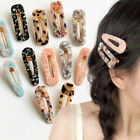 Vintage Leopard Women Acrylic Hair Pin Hairband Snap Barrette Hair Clip Bobby