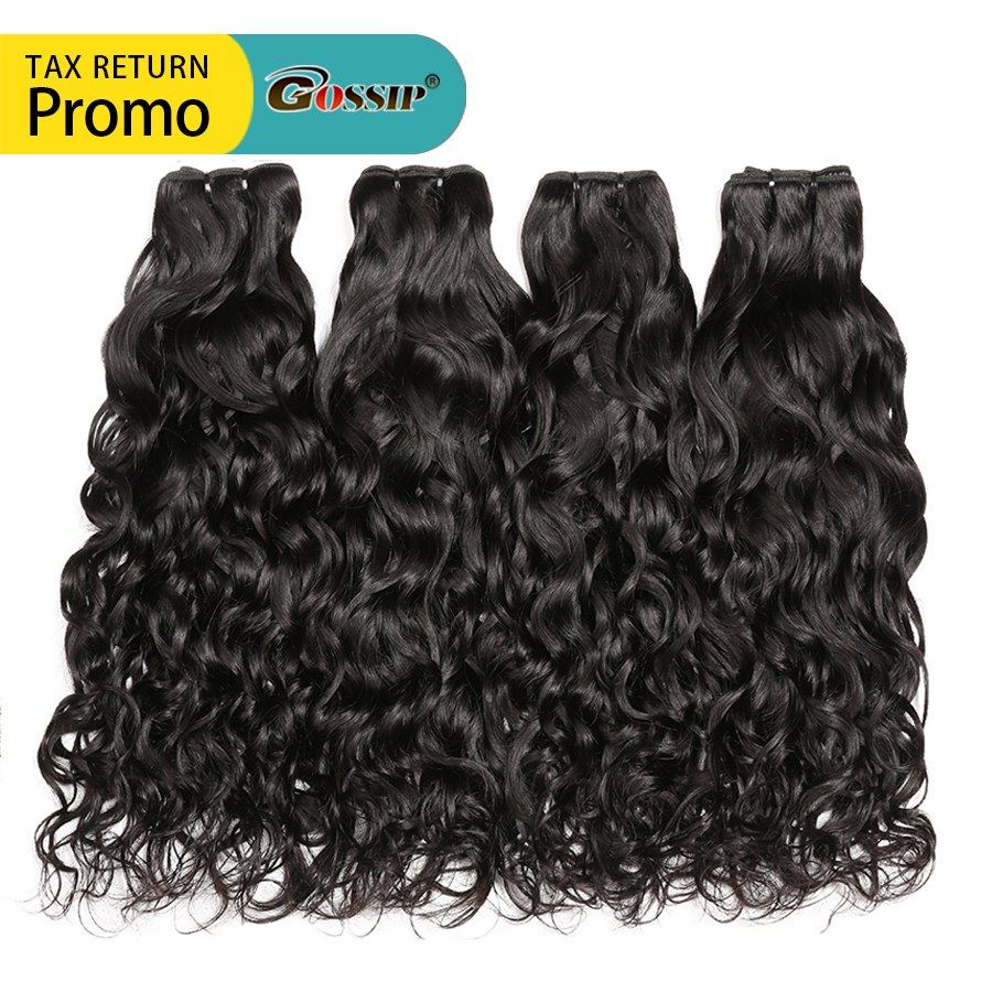 Water Wave Bundles Human Hair Extensions 100% Real Human Hair Bundles Brazilian Hair Weave Bundles Human Hair 3 Bundles Non Remy
