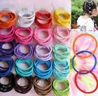 100Pcs Lot Kids Girl Elastic Rope Hair Ties Ponytail Holder Head Band Hairbands