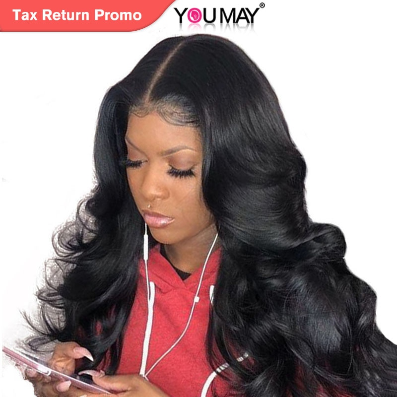 13x6 Lace Front Human Hair Wigs For Women 250% Density Brazilian Body Wave Lace Front Wigs Pre Plucked Non-remy Hair You May
