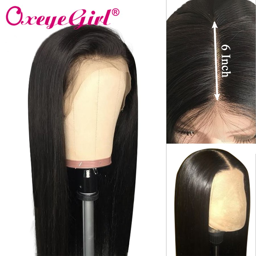 13x6 Lace Front Wig Straight Human Hair Wigs For Black Women Brazilian Lace Wig With Baby Hair 150% Density Remy Hair Oxeye girl