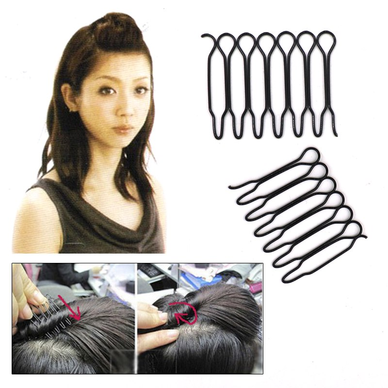 2PCS/Pack Black Color Disk Hair Styling Tools Beauty Hairdressing Accessories Girls' Hair Pins Barrette Braiding Hair Clips