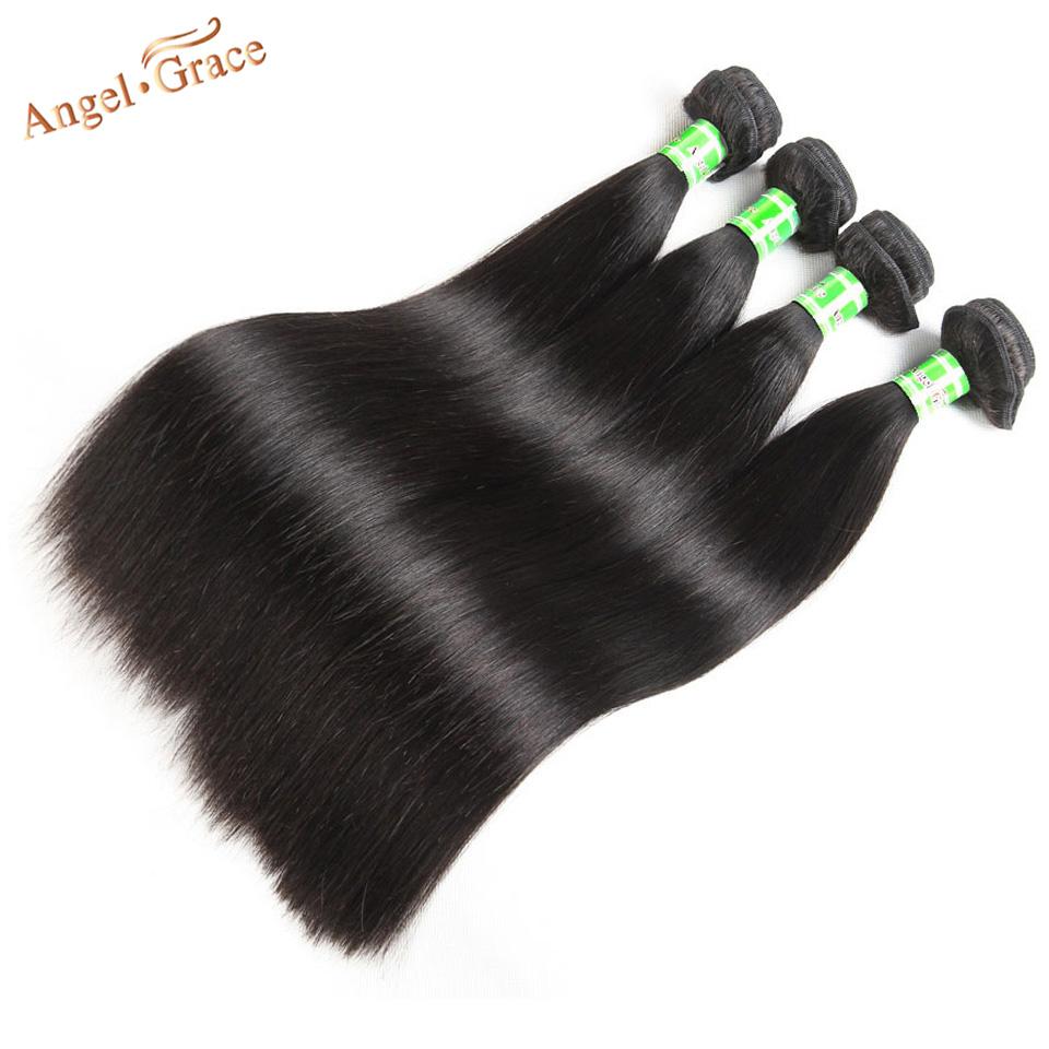 "Brazilian Straight Hair Bundles Angel Grace Hair 1/3/4 Bundles Deal 100% Human Hair Weave Bundles Remy Hair Extensions 8""-28"""