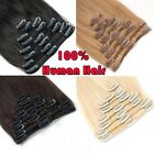CLEARANCE Clip in Human Hair Extensions Full Head 100% Real Remy Hair Long Soft