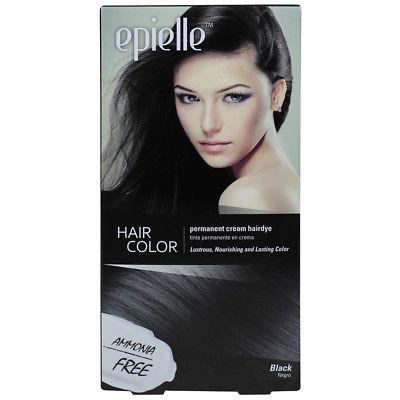 Epielle Hair Color Permanent Dye for Women, Black, 1ct